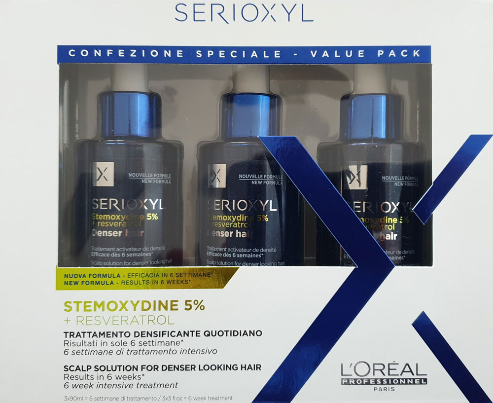 L´Oréal SERIOXYL Denser Hair Serum 3 x 90 ml