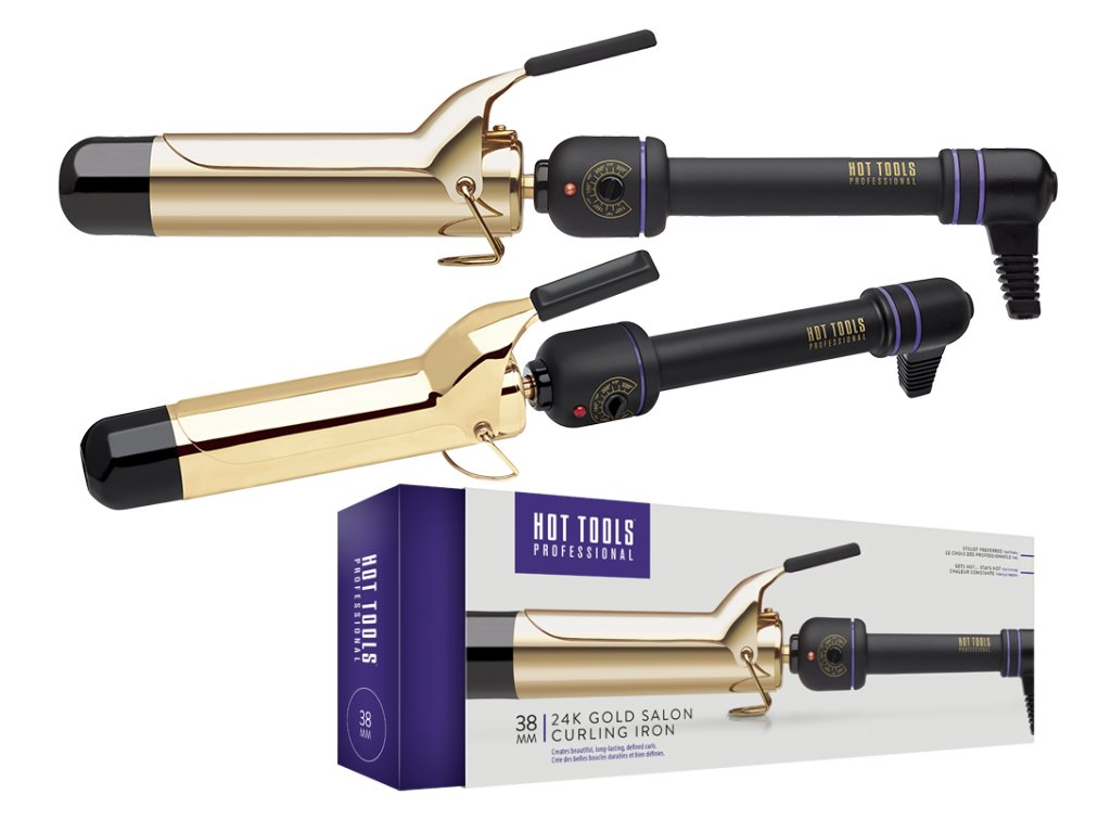Hot Tools 24k Gold Curling Iron kulma 38mm + Loreal Nutrifier termo-mlieko 150ml